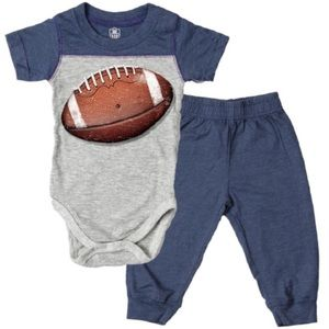 NWT Football Bodysuit & Pant Set Organic Cotton